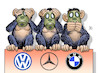 Cartoon: Abgas-Affen (small) by Harm Bengen tagged abgas,affen,dieselskandal,tierversuche,vw,daimler,merceds,bmw,harm,bengen,cartoon,karikatur
