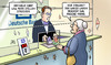 Cartoon: Deutsche-Bank-Stellen (small) by Harm Bengen tagged deutsche,bank,stellen,rekordverlust,chef,cryan,9000,streichen,job,arbeitsplatz,maler,farbe,susemil,harm,bengen,cartoon,karikatur