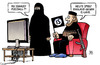 Cartoon: England vs. IS-Land (small) by Harm Bengen tagged is,terror,islamisten,land,island,england,fussball,europameisterschaft,em,harm,bengen,cartoon,karikatur