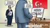 Cartoon: Erdogan und IS (small) by Harm Bengen tagged mission,accomplished,nachrichten,kobane,kurden,tuerkei,praesident,erdogan,is,schild,militaer,harm,bengen,cartoon,karikatur