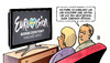 Cartoon: ESC 2013 (small) by harm tagged unbeliebt,europa,geld,schenken,deutschland,eurovision,song,contest,harm,bengen,cartoon,karikatur