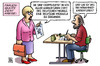 Cartoon: Frauenquote Version2 (small) by Harm Bengen tagged frauenquote,karikaturen,deutscher,michel,michaela,zeichnen,dax,konzerne,gleichberechtigung,feminismus,harm,bengen,cartoon,karikatur