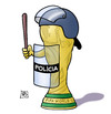 Cartoon: Polizei-Pokal (small) by Harm Bengen tagged polizei,pokal,demonstrationen,proteste,fifa,blatter,kritiker,fussball,wm,weltmeisterschaft,brasilien,harm,bengen,cartoon,karikatur
