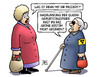 Cartoon: Queen in Grün (small) by Harm Bengen tagged nachwirkung,queen,geburtstagsfeier,gb,uk,grün,kostüm,blind,susemil,harm,bengen,cartoon,karikatur