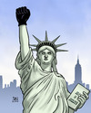 Cartoon: Rassismus USA (small) by Harm Bengen tagged rassismus,usa,polizei,schwarze,rassenunruhen,vorturteile,black,liberty,freiheitsstatue,power,kerzen,harm,bengen,cartoon,karikatur
