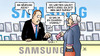 Cartoon: Samsung-Asche (small) by Harm Bengen tagged asche,geld,zigarrenstummel,susemil,feuer,samsung,galaxy,note,brand,harm,bengen,cartoon,karikatur