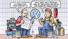 Cartoon: Texas (small) by Harm Bengen tagged usa,bundesstaat,texas,klage,justiz,gericht,vw,abgasskandal,betrug,todesstrafe,rekord,hinrichtungen,werkstatt,harm,bengen,cartoon,karikatur