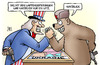 Cartoon: Ukraine-Waffenlieferungen (small) by Harm Bengen tagged ukraine,waffenlieferungen,witz,usa,russland,waffen,krieg,drohungen,uncle,sam,bär,harm,bengen,cartoon,karikatur