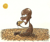 Cartoon: Hunger (small) by cizofreni tagged aclik hunger africa afrika food desert drought gida