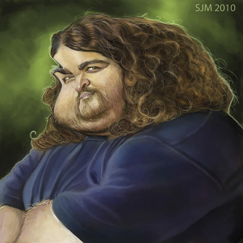 Cartoon: Hurley-Burly (medium) by jonesmac2006 tagged caricature,lost,hurley