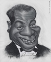 Cartoon: Louis Armstrong (small) by jonesmac2006 tagged louis armstrong caricature