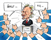 Cartoon: Das Netz feiert Julian Assange (small) by pianoman68 tagged assange facebook internet like it gefällt mir