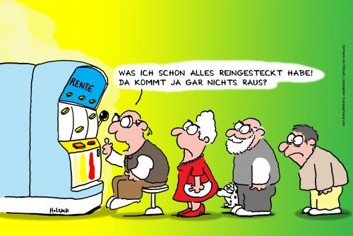 Rente Von Anett Politik Cartoon Toonpool