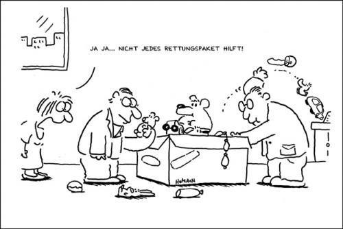 Cartoon: Rettungspaket (medium) by anett tagged rettungspaket