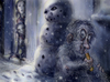 Cartoon: the hungry yeti (small) by nootoon tagged yeti,nootoon,illustration,germany,winter,snowflakes,carrot