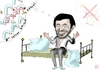 Cartoon: Ahmadinejad and cartoonists (small) by Dadaphil tagged ahmadinejad,cartoonists,theran,9th,biennale