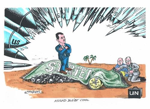 Assad im Visier von mandzel  Politik Cartoon  TOONPOOL