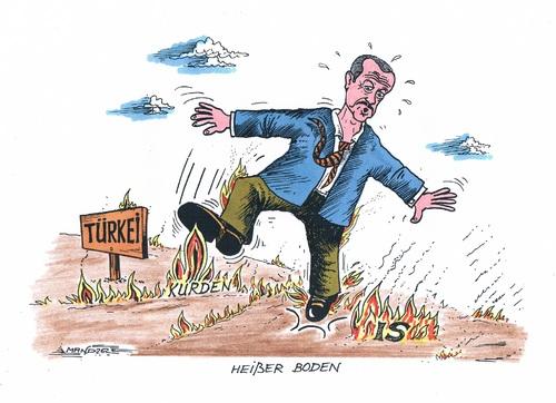 Erdogan wird der boden hei von mandzel politik cartoon for Boden cartoon