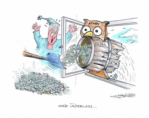Euros f r griechenland von mandzel politik cartoon for Boden cartoon