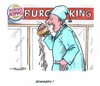 Cartoon: Burger King (small) by mandzel tagged fastfood,imageverlust,burger