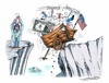 Cartoon: Finanzkrise in USA (small) by mandzel tagged usa,finanzkiste,uncle,sam,abgrund