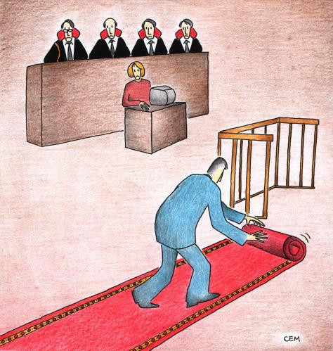 Cartoon: judgement (medium) by cemkoc tagged hukuk,cartoons,law,karikatürleri,cem,ko,justice,judge,judicial,court,judgement,tribunal,supreme,lex,jurisdiction,legal,gesetz,richter,adalet,hakim,mahkeme,robe,wig,defendant,prosecutor,koc,magistrate,judgeship