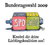 Cartoon: Lieblingskoalition (small) by Andreas Pfeifle tagged bundestagswahl,wahl,2009,koalition
