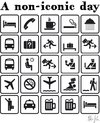 Cartoon: non-iconic-day (small) by Andreas Pfeifle tagged comic,icons,pictogram