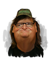 Cartoon: Michael Moore (small) by rocksaw tagged michael,moore