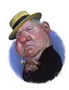 Cartoon: W.C. Fields (small) by rocksaw tagged wc,fields
