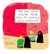 Cartoon: Keine Muslime (small) by Holga Rosen tagged burka