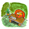 Cartoon: Manager (small) by Holga tagged manager,nagetiere,biber,hamster,schreibtisch,holz