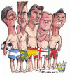 Cartoon: World Cup Brazil 2014 (small) by Tchavdar tagged messi,neymar,casillas,rooney,ronaldo,brazil,football,worldcup