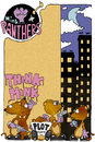 Cartoon: Mink Panthers (small) by gothink tagged comic,strip,cartoon,comix,underground,punk,goth,gothink,evocrim,bee,bop,mink,panthers