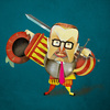 Cartoon: Kai Diekmann (small) by Michele Rocchetti tagged kai,diekmann,landsknecht,caricature,portrait,bild