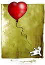 Cartoon: EL AMOR UN DIA (small) by allan mcdonald tagged amor