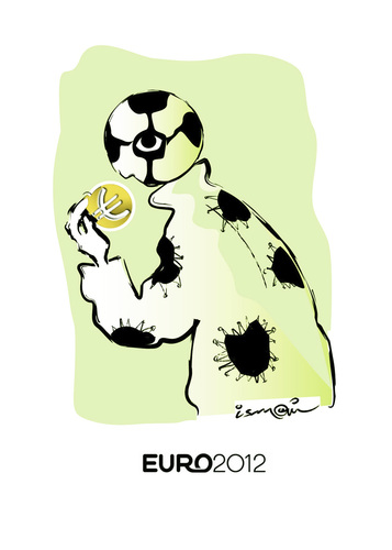 Cartoon: Euro 2012 (medium) by ismail dogan tagged euro,2012