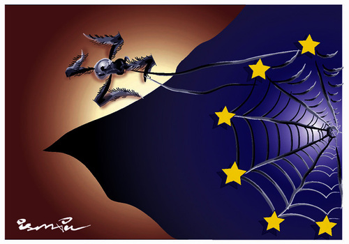 Cartoon: FASCISME IN EUROPE (medium) by ismail dogan tagged fascisme,in,europe