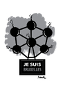 Cartoon: Brussels (small) by ismail dogan tagged ije,suis,bruxelles