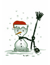 Cartoon: SANTALEAKS !... (small) by ismail dogan tagged snowman