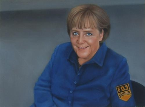 Cartoon: unser Chef (medium) by de-Rossi tagged merkel,fdj,bundeskanzler