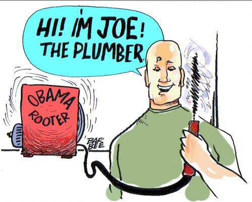 Cartoon: JOE THE PLUMBER (medium) by barbeefish tagged joe,american