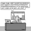 Cartoon: Dont look it up on Google (small) by cartoonsbyspud tagged cartoon,spud,hr,recruitment,office,life,outsourced,marketing,it,finance,business,paul,taylor