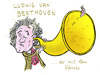 Cartoon: Ludwig van Beethoven (small) by habild tagged komponist,romantik,karikatur,schwerhörig