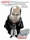 Cartoon: Alfano (small) by portos tagged alfano,chiesa,pedofilia