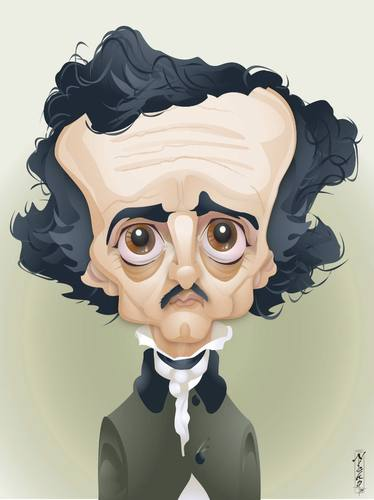 Cartoon: Edgar Allen Poe (medium) by buzz tagged poe