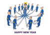 Cartoon: happy (small) by zluetic tagged new,year