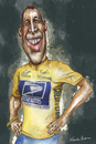 Cartoon: LANCE ARMSTRONG (small) by lagrancosaverde tagged lance,armstrong,ciclismo,cycling