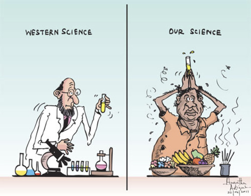 Cartoon: Our science (medium) by awantha tagged our,science