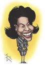 Cartoon: michelle obama (small) by awantha tagged michelle,obama